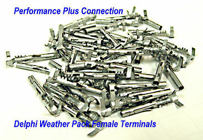 GM 12020801 WeatherPack Female Pin 22-24 AWG 50 pack Made In USA
