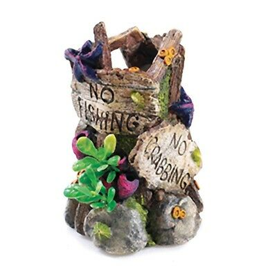 "Classic No Fishing Sign 6"" Aquarium BIORB Ornament"
