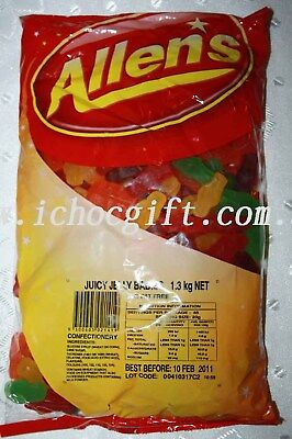 Allens Juicy Jelly Babies 1.3kg Bulk Bag