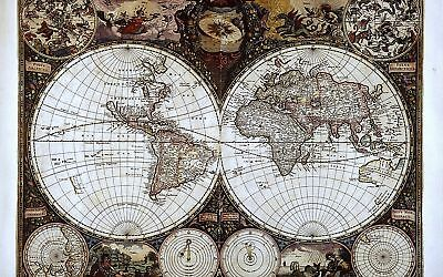 Old World Map Canvas Print 20*30 Inch HUGE !