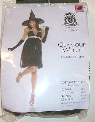womens NEW NIP GLAMOUR WITCH HALLOWEEN COSTUME large @@