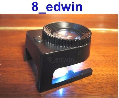 Professional Solid Steel 10x Large Lens Lighting Loupe / Linens Tester