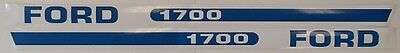 Brand New 1700 Ford / New Holland Hood Decal Set F1700 Compact Tractor