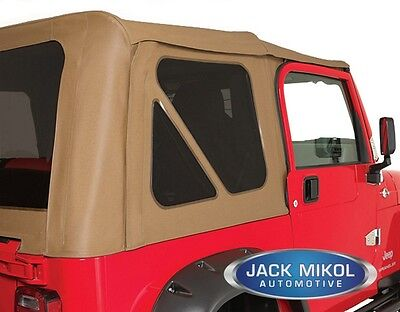 SPICE 97-06 JEEP WRANGLER SOFT TOP TINTED REAR and BACK WINDOWS