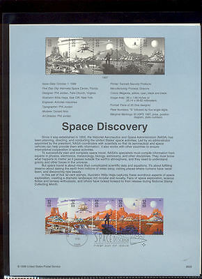 #3238-42 32c Space Discovery USPS #9829 Souvenir Page