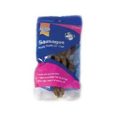 Pack of Ten Pork and Beef Sausages Dog Treat