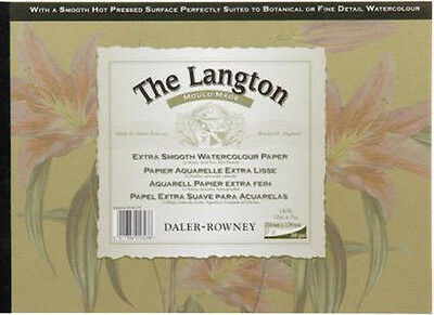 Daler Rowney Langton Watercolour Pad - HP - Smooth Hot Pressed - 16x12
