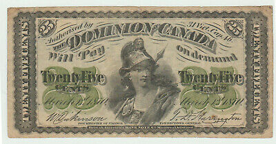 DOMINION of CANADA 25¢ of 1870 P# 8a DC# 1c PRINT BABNC