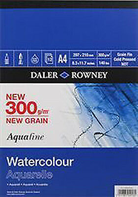 Daler Aquafine Watercolour Pad - 300GSM / 140lb - Cold Pressed / NOT - A3