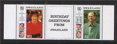 Swaziland 1991 Royal Birthdays SG592/3 MNH