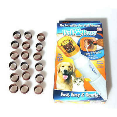 Pedi Paws Pet Nail Trimmer with 20 Emery Bands PediPaws