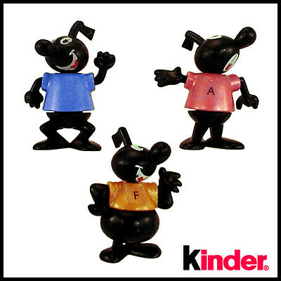 Three (3) Hard To Find Vintage Musical Note Guys by Kinder Ferrero - Germany
