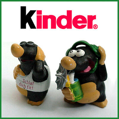 2 Rare Vintage Mole Figures by Kinder Ferrero - Germany