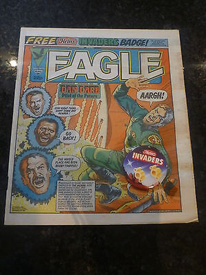 """EAGLE Comic - Date 05/05/1984 - With Free """"HEINZ INVADERS"""" FREE Gift - UK Comic"""