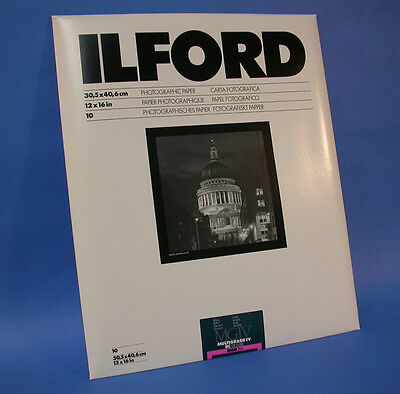 "Ilford MULTIGRADE IV RC DeLuxe 30X40cm 12X16"" B&W Paper Variable Gradation Gloss"