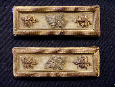 RARE EPAULETTE PAIR 19th CENTURY MAJOR RANK KNIGHTS OF PYTHIAS