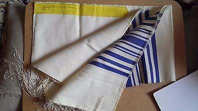 Brand New Beautiful Jewish Prayer Shawl / Tallit - Size 18 - Made In Israel