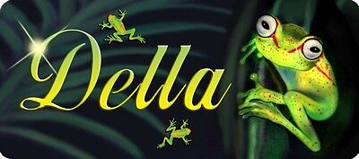 "Green Frogs Decal Bumper Sticker Personalize Name Or Text Gifts Auto 4"" x 8"""