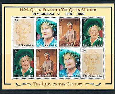 Gambia 2002 Queen Mother Commem.sheet SG2025ab MNH