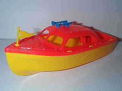 AMLOID TOYS 1960'S LARGE SIZE CABIN CRUISER SPEED BOAT TOY BOAT MINT