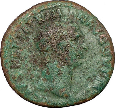 TRAJAN 101AD HUGE Ancient Roman Coin VICTORY palm and shield i23068
