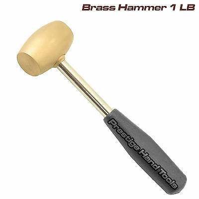 Brass Hammer Mallet steel handle jewellers metal silver smith stamp dapping 1LB