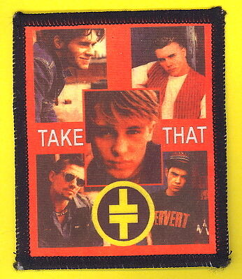 Take That 1993 uk sew-on cloth patch UNUSED #3