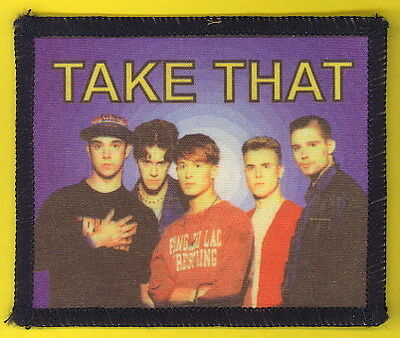 Take That 1993 uk sew-on cloth patch UNUSED #5