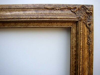 Picture Frame Fancy Gold & Marble Antiqued 20 X 24 For Oil Painting Or Print