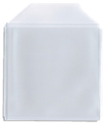 50-Pak =CLEAR PLASTIC POLY (CPP)= CD Sleeves, With Flap