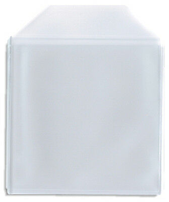 200-Pak =CLEAR PLASTIC POLY (CPP)= CD Sleeves, With Flap (4 x 50-Pak)