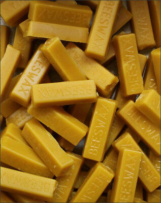 5 -1 Oz Bars Of Real100% Pure Beeswax Filtered Blocks Never Cut