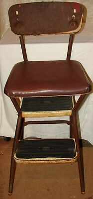 Vintage Cosco Stylaire Step Stool Chair