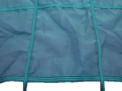 32ft x 17ft Deluxe Criss Cross Winter Debris Cover & Fixings For Swimming Pool