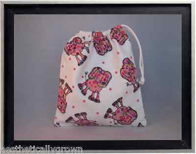 Gymnastics Leotard Grip Bags / Pink Elephant Gymnast Birthday Goody Bag