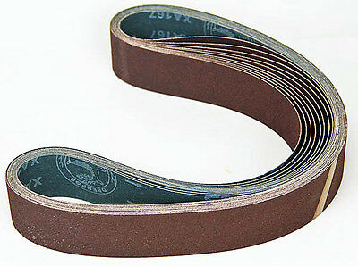Ten Sanding Belts 50x1220mm (2x48)  120grit. Industrial cloth backed. ABRB248120