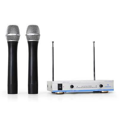Wireless Vhf Microphone System Kit Set 2 Mics 100 M New