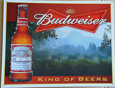 Budweiser Beer Anheuser-Busch King of Beers Vintage Advertising Tin Sign #1282