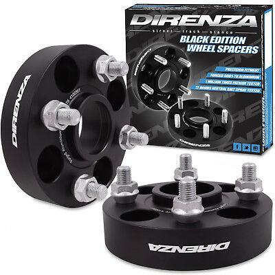 DIRENZA FORGED BLACK 4x100 M12x1.5 30MM WHEEL SPACER PAIR FOR HONDA CIVIC CRX