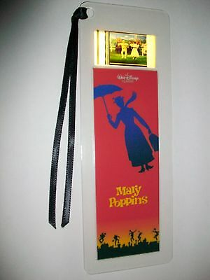 MARY POPPINS Disney Movie Memorabilia Film Cell Bookmark Collectible