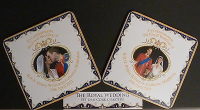 Royal Wedding Coasters William And Catherine - Choice Of 2 Designs