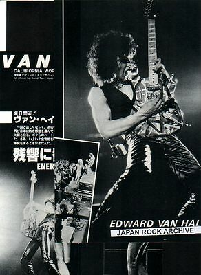 '79 Van Halen California Fest 3pg 5 photo JAPAN mag article / clippings cuttings