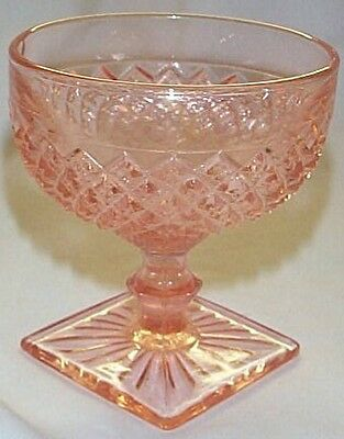 MISS AMERICA PINK FOOTED SHERBET or DESSERT DISH by HOCKING!!