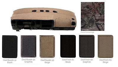 Toyota Specialty Dash Cover Custom Fit - Tech Fabric, Camouflage, Suede Fabrics