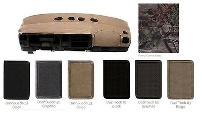 Mitsubishi Specialty Dash Cover Custom Fit - Tech Fabric, Camouflage, Suede