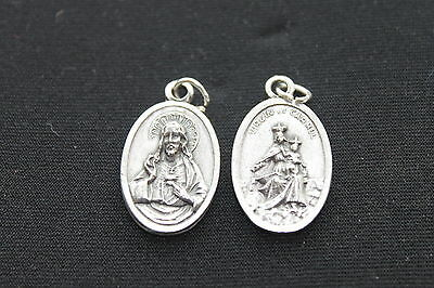 WHOLESALE SCAPULAR VIRGIN of CARMEL MEDAL / Pendant Silver Metal Charm 1/5/10