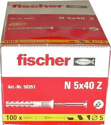 Fischer Dübel ND 5x40 Z - 100 St. - 50351