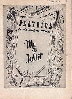 Me And Juliet Broadway Playbill - Isabel Bigley, Bill Hayes *  1953
