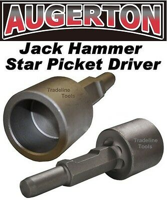 Augerton Jack Hammer Star Picket Farm Post Driver Chisel Demolition Jackhammer