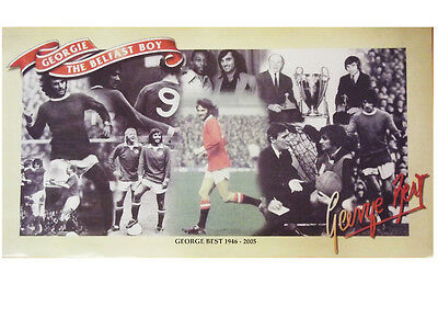 George Best Pele Charlton Law Busby Georgie The Belfast Boy Collectors Poster